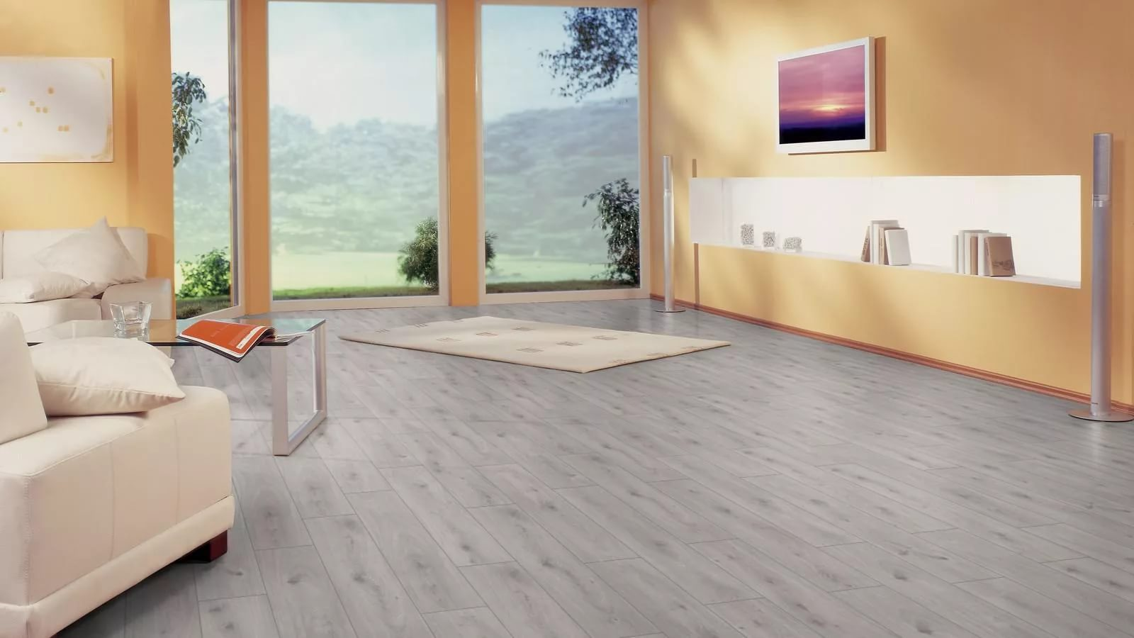 Laminate flooring looks like tile